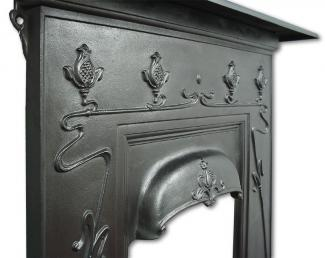 Art Nouveau Cast Iron Fireplace detail