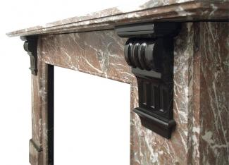 Victorian Rouge Marble Mantel frieze
