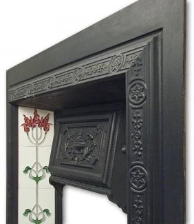 Edwardian Cast Iron Fireplace Insert frieze