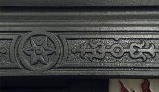 Edwardian Cast Iron Fireplace Insert detail