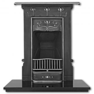 The Abbot Cast Iron Combination Fireplace Highlighted