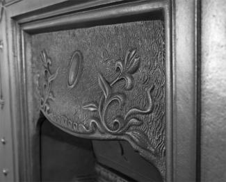 The Bella Cast Iron Combination Fireplace Hood