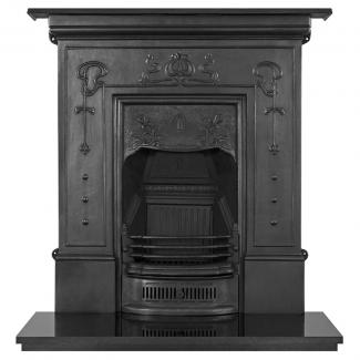 The Bella Cast Iron Combination Fireplace Black