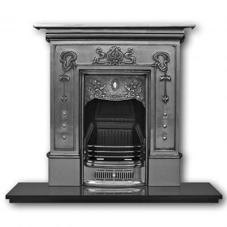 The Bella Cast Iron Combination Fireplace Full Polished