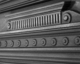 The Hamden Cast Iron Combination Fireplace frieze