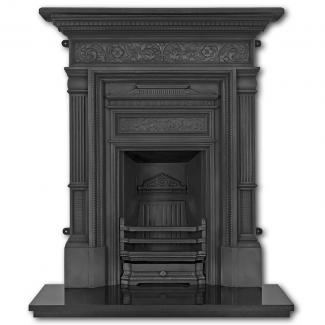 The Hamden Cast Iron Combination Fireplace ( Black )