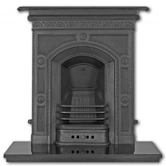 The Hawthorne Cast Iron Combination Fireplace ( Black )