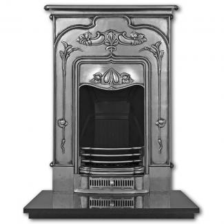 The Jasmine Cast Iron Combination Fireplace full polish
