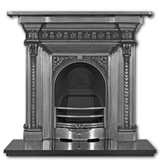 The Melrose Cast Iron Combination Fireplace - full polished