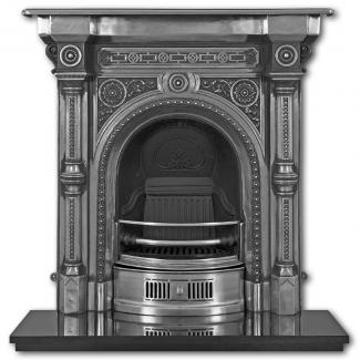 The Tweed  Cast Iron Combination Fireplace Full Polished
