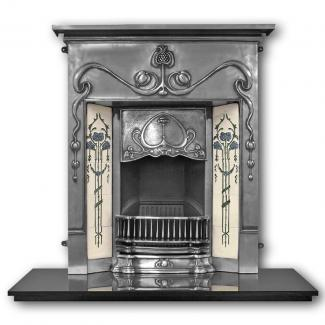 The Valentine Cast Iron Combination Fireplace full polished