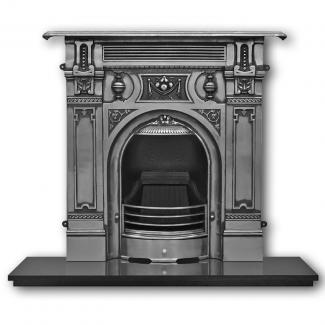 The Victorian ( Large ) Cast Iron Combination Fireplace - highlight