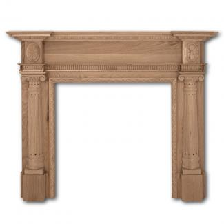The Ashleigh Wooden Mantel in Unfinished oak
