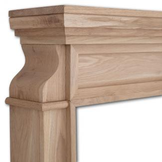 The Clive Wooden Mantel detail