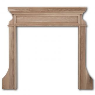 The Clive Wooden Mantel unwaxed oak