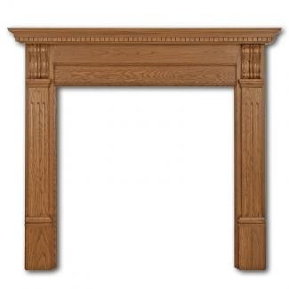 The Corbel Wooden Mantel ( Wide Opening ) waxed oak