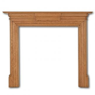 The Grand Wooden Mantel in Waxed Oak
