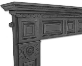 The Hampton Cast Iron Fire Surround ( Black )