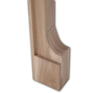The Milton Wooden Mantel foot