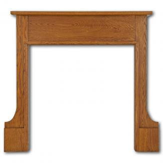 The Milton Wooden Mantel waxed oak