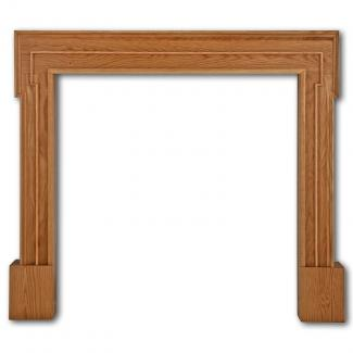 The Palladio Wooden Mantel waxed oak