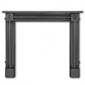 The Regent Cast Iron Fire Surround ( Black )
