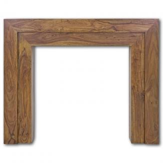 The Vermont Wooden Mantel in Natural Solid Sheesham