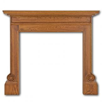 The Volute Wooden Mantel waxed oak