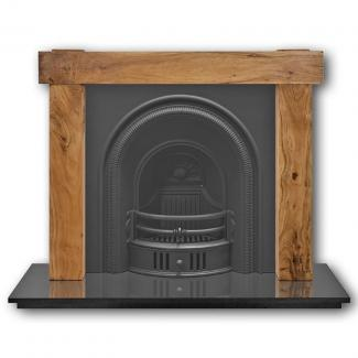The Beckingham Arched Cast Iron Fireplace Insert - black