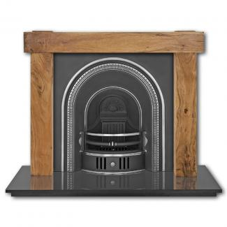 The Beckingham Arched Cast Iron Fireplace Insert - highlighted