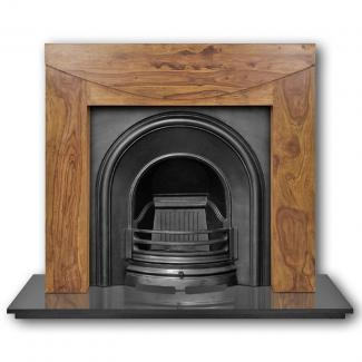 The Celtic Arch Cast Iron Fireplace Insert black