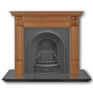 The Coleby Arched Cast Iron Fireplace Insert black