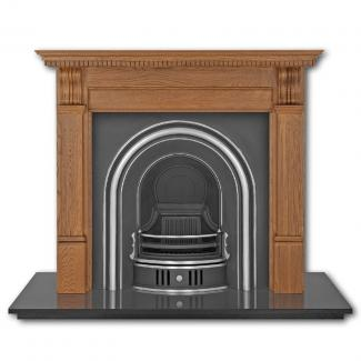 The Coleby Arched Cast Iron Fireplace Insert highlighted