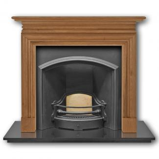 The London Plate ( Wide Opening ) Cast Iron Fireplace Insert black