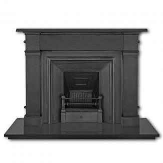 The Royal Cast Iron Fireplace Insert Black