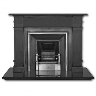The Royal Cast Iron Fireplace Insert Highlighted